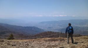 峠からの南アルプス